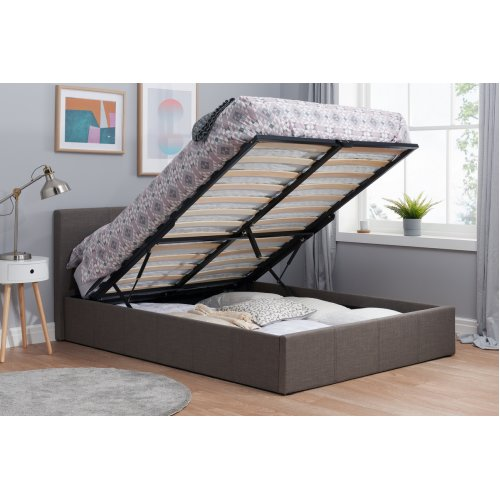 Istanbul Ottoman 4ft Small Double Bed End Lift Storage Bed