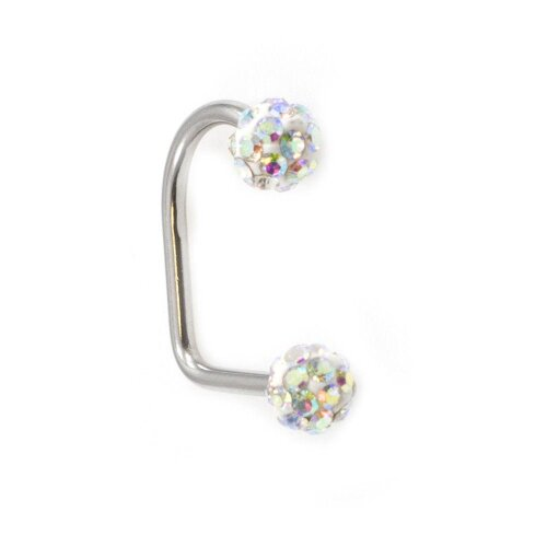Lippy Loop Surgical Steel Lip Ring with Ferido Ball 16G