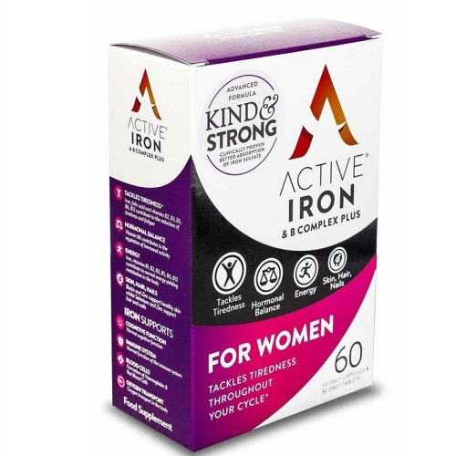 Active Iron & B-Complex Plus For Women - 30 Daily Capsules & 30 Daily Tablets