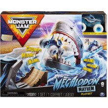 Monster Jam 6056869 Official Mayhem Playset with Exclusive 1:64 Scale Megalodon Die-Cast Monster Truck, Multicolour