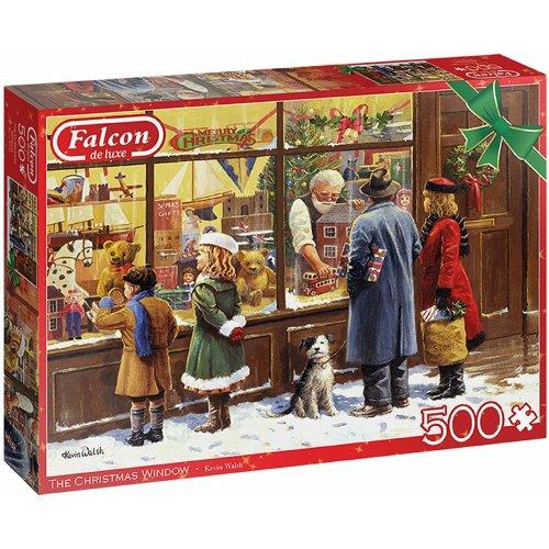 500pc Jumbo Falcon De Luxe The Christmas Window Festive Jigsaw Puzzle