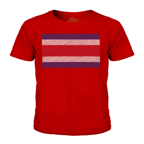 Candymix - Costa Rica Scribble Flag - Unisex Kid's T-Shirt