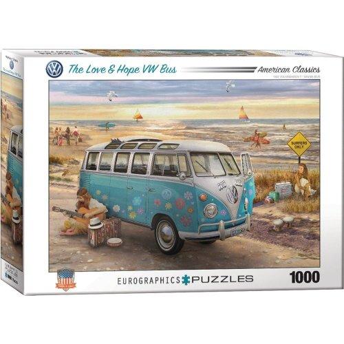 Eg60005310 - Eurographics Puzzle 1000 Pc - the Love & Hope Vw Bus