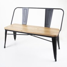 Rustic Bench With Decorative Backrest