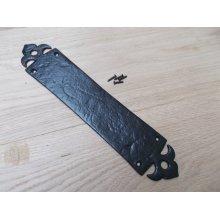 Black Antique Fleur de lys design finger Plate