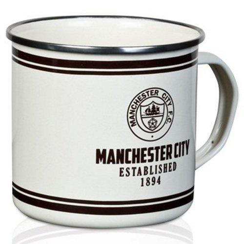 Man City Retro Tin Mug - Manchester City Mug