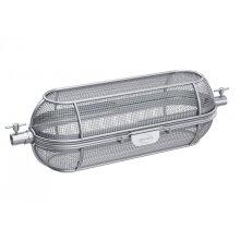 rotisserie basket 44 x 16,5 cm stainless steel silver