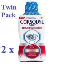 2 x Corsodyl Daily Arctic Mint Complete Protection Mouthwash 500ml