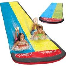 Summer Water Slide Racer Pool Kids, Outdoor Park Splash-Slide Wave Rider (as show)