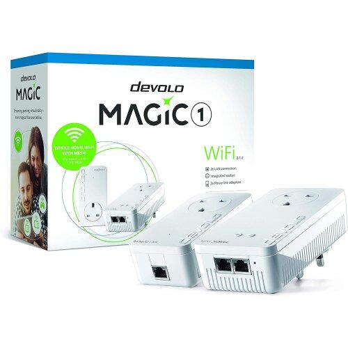 Devolo Magic 1-1200 Wi-Fi Ac Starter Kit: Stable home working, High Performance Powerline Kit, Mesh Wi-Fi, Up to 1200 Mbps Via Powerline, Wi-Fi Ac, Wi