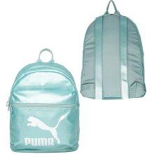 Puma Womens Prime Metallic Backpack Zip Up Rucksack Bag Aqua Blue 075164 02 A66A