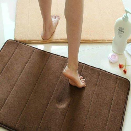 40X60cm Mirco Suede Soft Bathroom Carpet Kitchen Mat 4 Colors