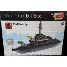 Amazing Block Tech Battleship using 321 Quality Microblox Pieces