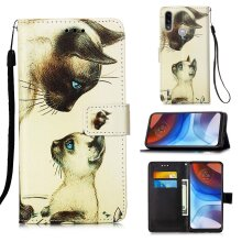 Motorola Moto G8 Power Lite Painted Leather Case two cats