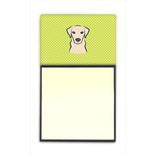 Checkerboard Lime Green White English Bulldog Aluminum Metal Wall Or Door Hanging Prints, 6 x 6 In.