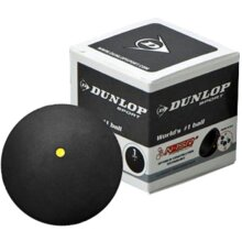 DUNLOP SPORTS INTERMEDIATE PLAYERS COMPETITION WORLD 1 SQUASH BALL BLACK