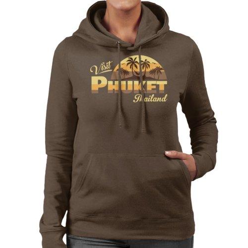 Visit Phuket Retro Beach Women's Hooded Sweatshirt