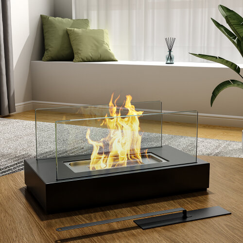 Tabletop Portable Bio Ethanol Fireplace Fire Pit Patio Heater Indoor Outdoor