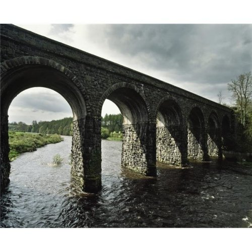 Randalstown Co Antrim Ireland Disused 19th Century Railway Viaduct Poster Print by The Irish Image Collection, 16 x 13