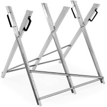 Folding Chain Saw Horse Log Holder Sawing Cutting Stand Galvanized Metal Trestle