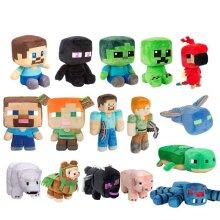 Minecraft Creeper Enderman Plush Toys Pixel Doll