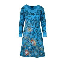 Women's Long Sleeve Dress With Floral Embroidery