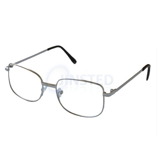 (+1.0) Adult Silver Reading Glasses. Unisex Spectacles