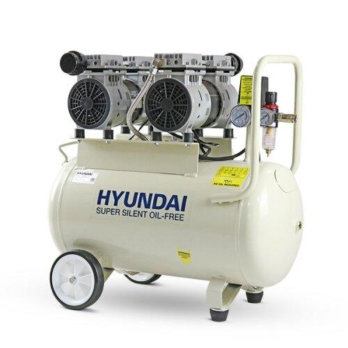 Hyundai 50 Litre Air Compressor, 11CFM/100psi, Oil Free, Low Noise, Electric 2hp | HY27550