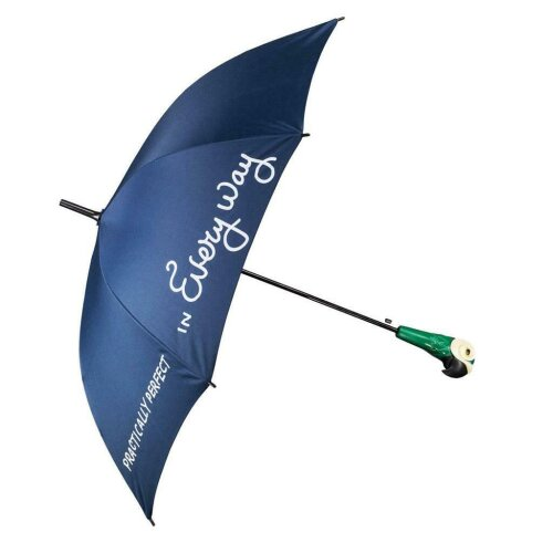 Disney Mary Poppins Umbrella Practically Perfect With Parrot Head Handle