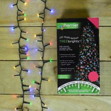 1500 LED 37.5m Premier TreeBrights Christmas Lights with TIMER in Multi Coloured
