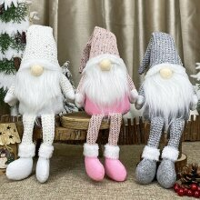 Xmas Sparkly Santa Gnomes Gonks Doll Toy Decor Christmas Decorations Kids Gifts