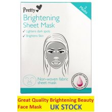 Brightening Sheet Masks Lightens and Brightens with Pomegranate and Rose Oil -  2 Masks per pack