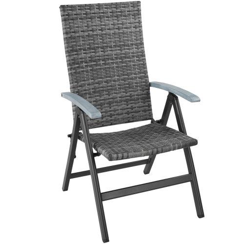 Foldable rattan garden chair Melbourne - grey