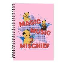 Sooty Magic Music Mischief Spiral Notebook