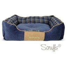 Scruffs Highland Box Dog Bed - Blue, Large