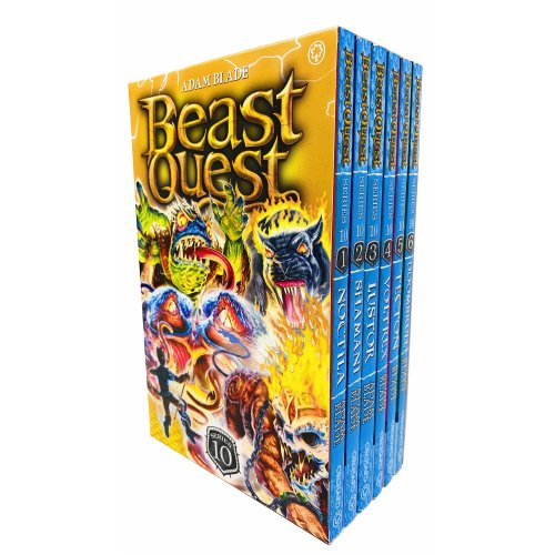 Beast Quest Series 10 Box Set Books 1 - 6 Collection Noctila, Shamani