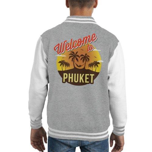 Welcome To Phuket Retro Kid's Varsity Jacket