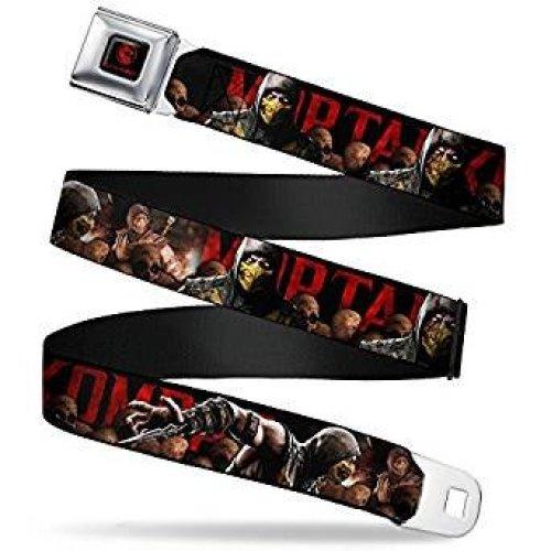 Seatbelt Belt - Mortal KomBat - V.4 Adj 24-38' Mesh New mka-wmk005