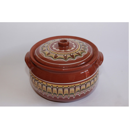 (3L.) CERAMIC CASSEROLE WITH LID 3,4,5,7L. HAND MADE