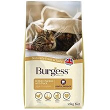 Burgess Adult Cat Chicken and Duck 1.5kg Biscuits.