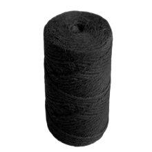 35m Black 6 Ply Jute Thread for Macrame Crafts