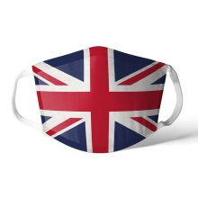 Face Mask Covering Distressed Flag Reusable Washable Soft Cotton Feel Polyester Fabric