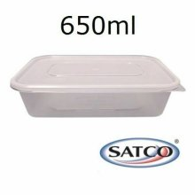 40 PCS SATCO PLASTIC CONTAINERS 650ML MICROWAVE FOOD GRADE SNAP ON LID TAKEAWAY KITCHEN