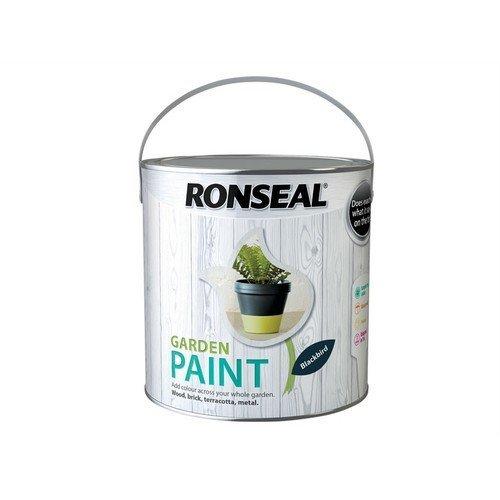 Ronseal 37430 Garden Paint Black Bird 2.5 Litre
