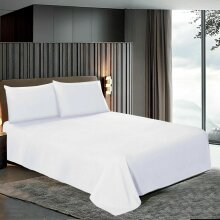 Egyptian Cotton White Flat Sheets Bed Sheet Single Double King Super King Size
