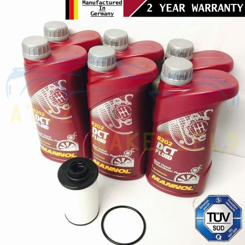 FOR VW GOLF GTD AUTOMATIC DSG TRANSMISSION GEARBOX FILTER SEAL 6L OIL KIT 2015-