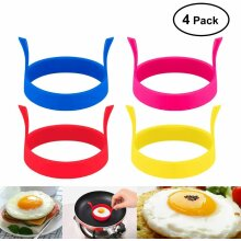 (4 Pack)Silicone Egg Ring Non Stick Pancake Poacher Round Mold Cooking UK Seller