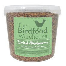 The Birdfood Warehouse Dried Mealworms 5ltr - Wild Bird Food 5 litre Bucket, 5l Treat Tub