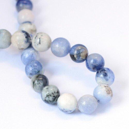 Strand Of 60+ Blue Sodalite 6mm Plain Round Beads
