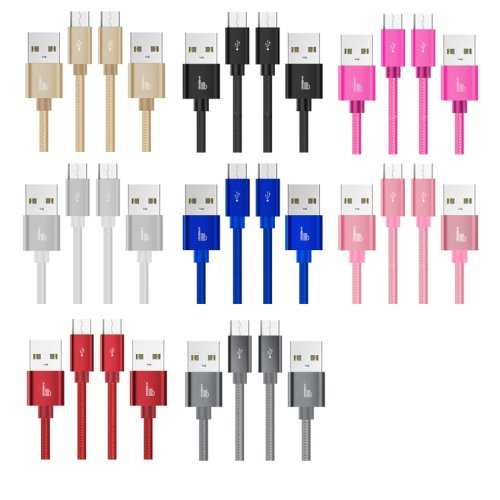 Heavy Duty Braided Fast Charge USB-C Type C Data Charger Charging Cable 1m 2m 3m - 10 Colours